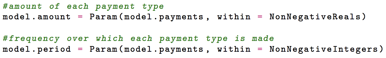 Payments Made Variable
